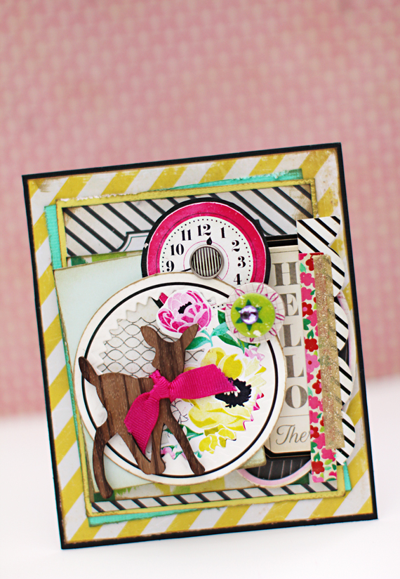 Christine Middlecamp - Crate Paper - Happiness Card - Flower Shopping